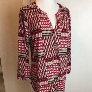 Tunic style ladies blouse